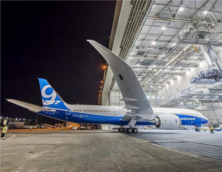Boeing 787-9 Dreamliner in New Boeing Livery