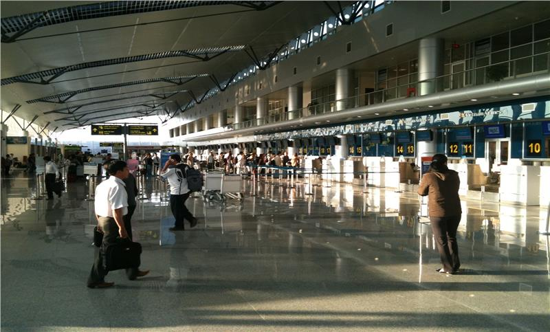 Check-in at Da Nang International Airport