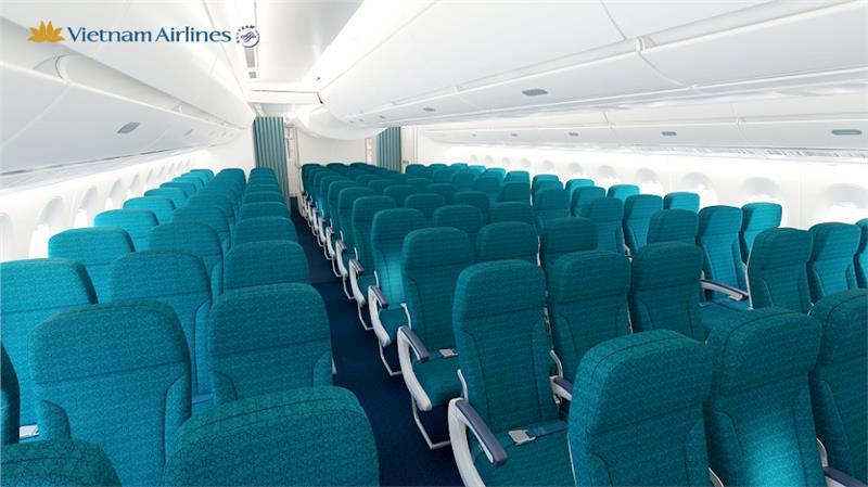 Khoang hành khách hạng phổ thông của A350 XWB