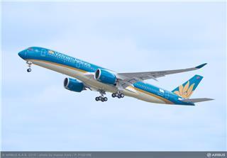 Flight test of first Vietnam Airlines A350 XWB aircraft