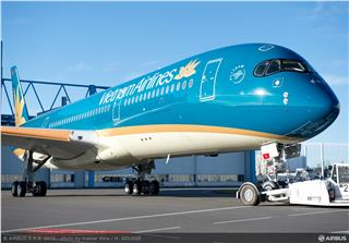 First Vietnam Airlines A350 XWB tested by Airbus