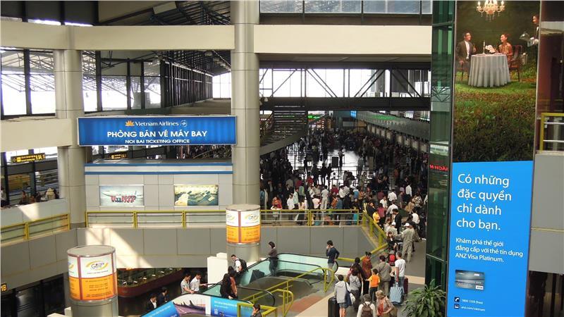 Inside Noi Bai International Airport