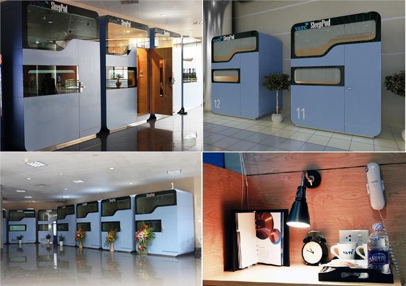 Hệ thống hộp ngủ tại Sân bay Nội Bài