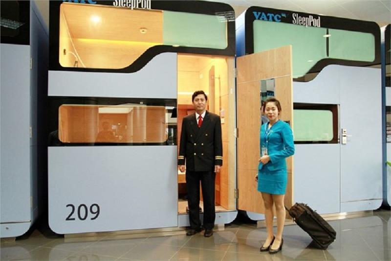 Discount on sleep pods at Hanoi airport