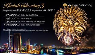 Vietnam Airlines khuyến mãi vé máy bay - Khoảnh khắc vàng số 3