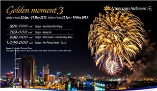 Vietnam Airlines ticket promotion - Golden Moment 3