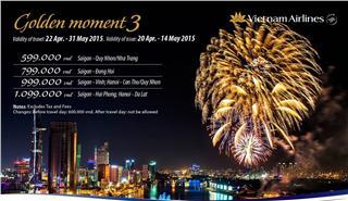 Vietnam Airlines ticket promotion - Golden Moment 3