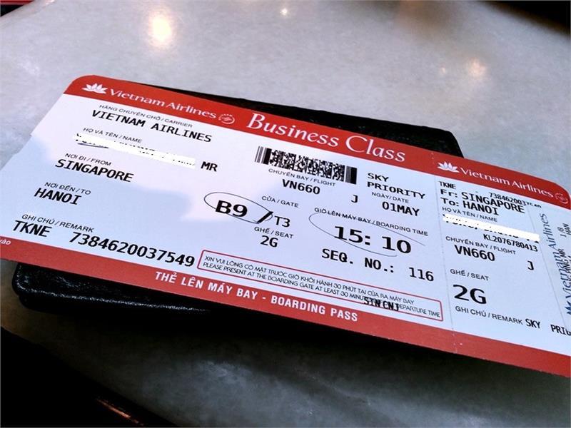 Thanh toán vé máy bay Vietnam Airlines