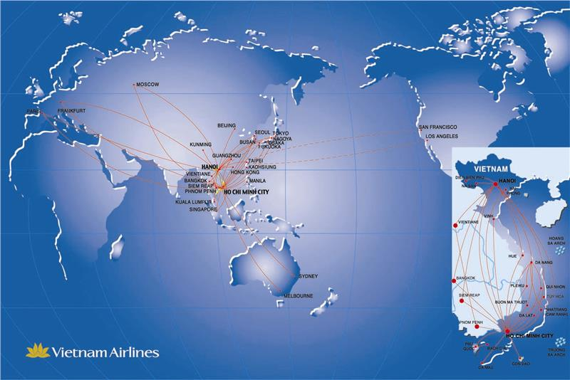 Vietnam Airlines flight network