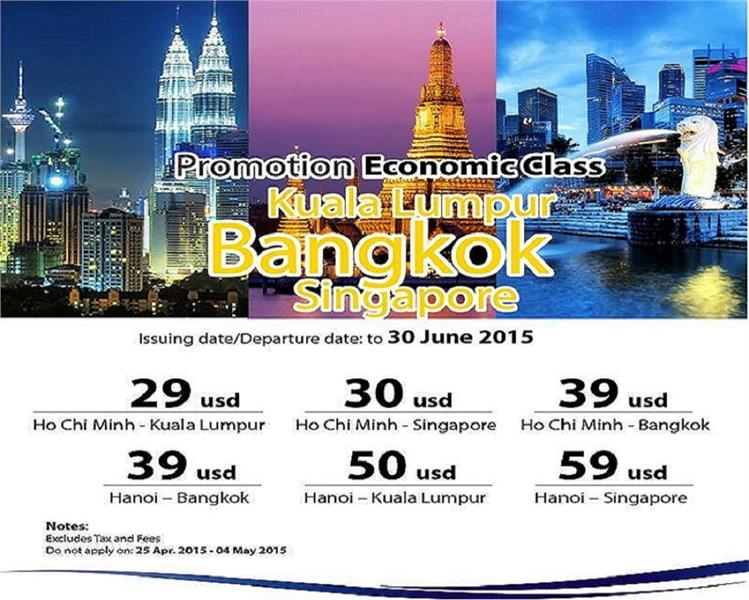 promotion air ticket to bangkok from malaysia