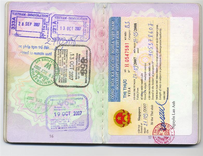 A kind of Vietnam Business Visa