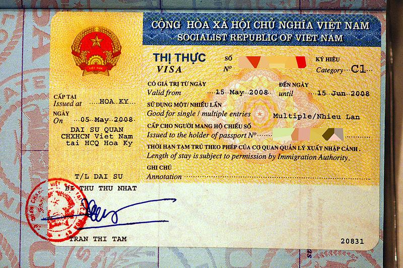 Visa Vietnam on arrival for foreigners