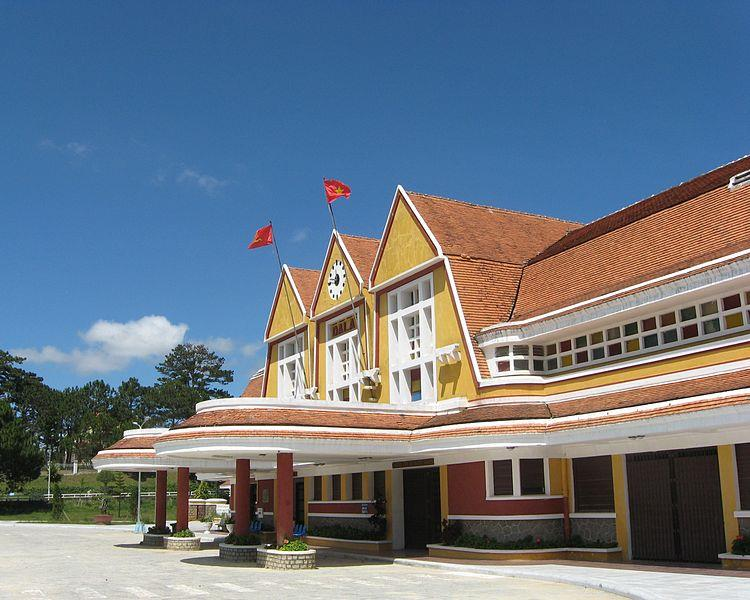 Dalat train station in Vietnam architecture