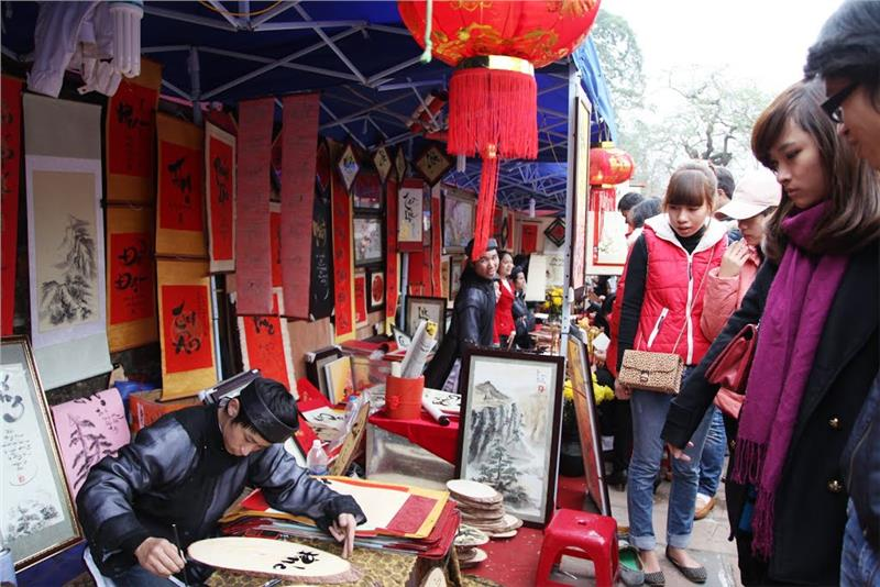 Calligraphy Writing Festival in Hanoi repositioned