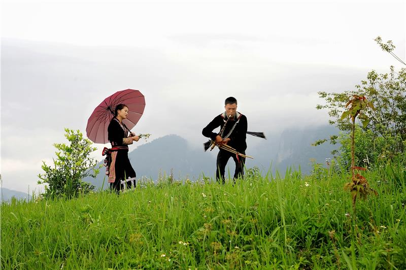 Khen dancing of Hmong ethnic group