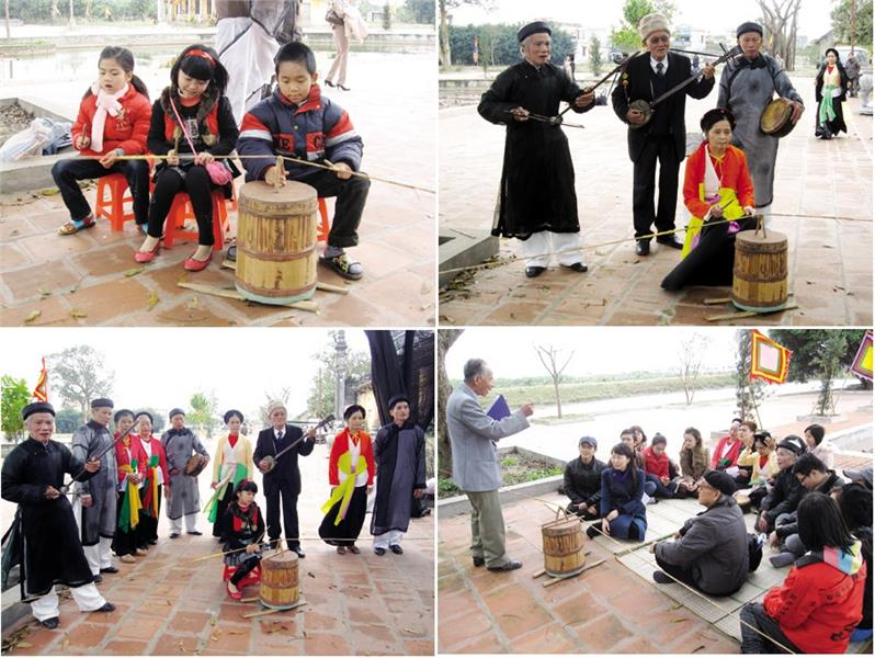 Old artists introduce Trong Quan to the young