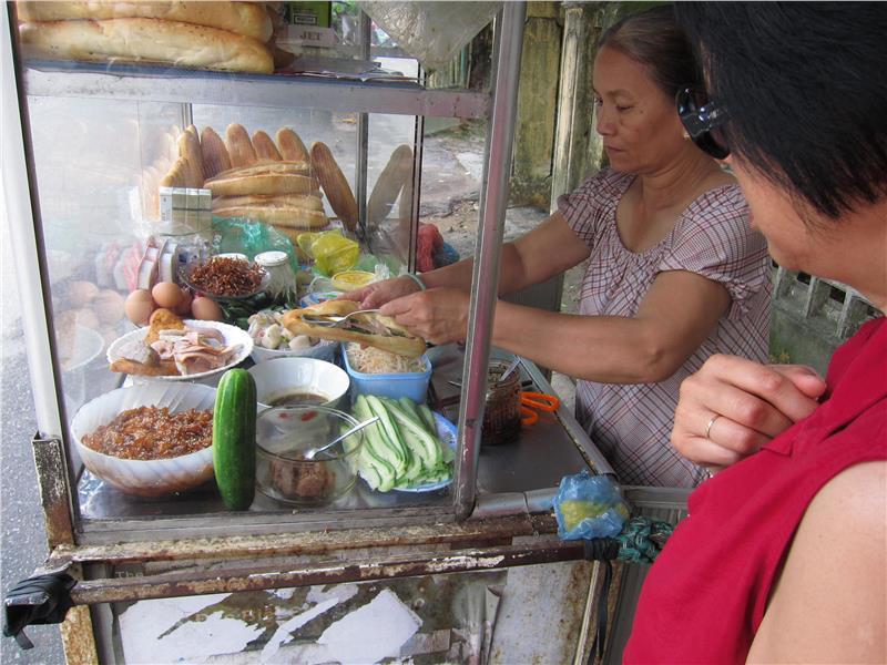 Making Banh Mi