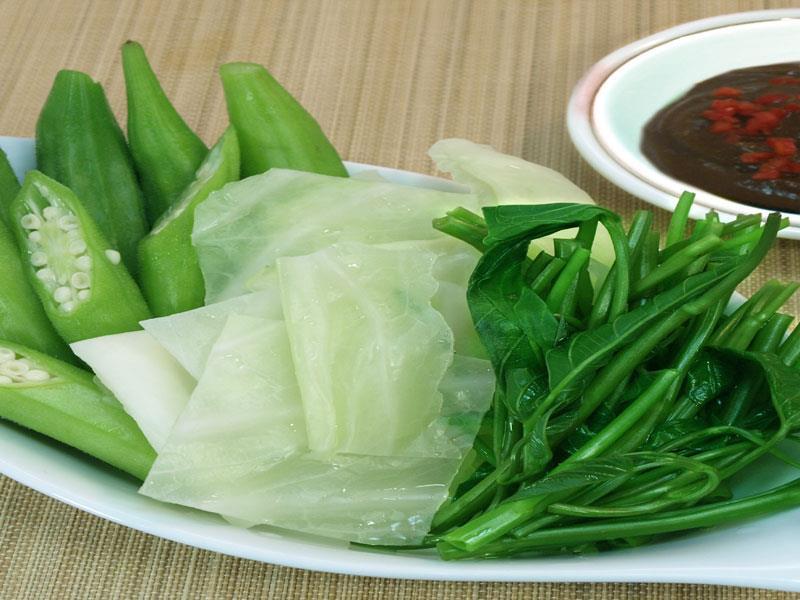 Boiled vegetables