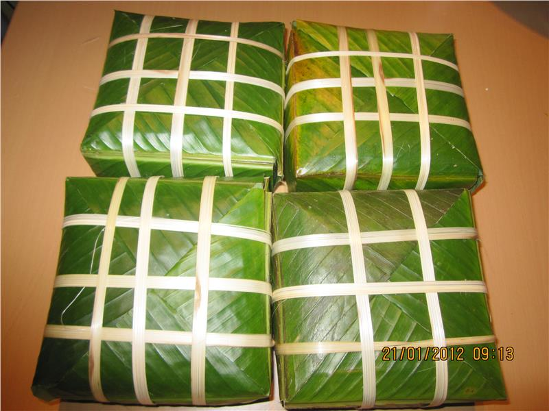Chung Cake - a traditional food of Vietnam
