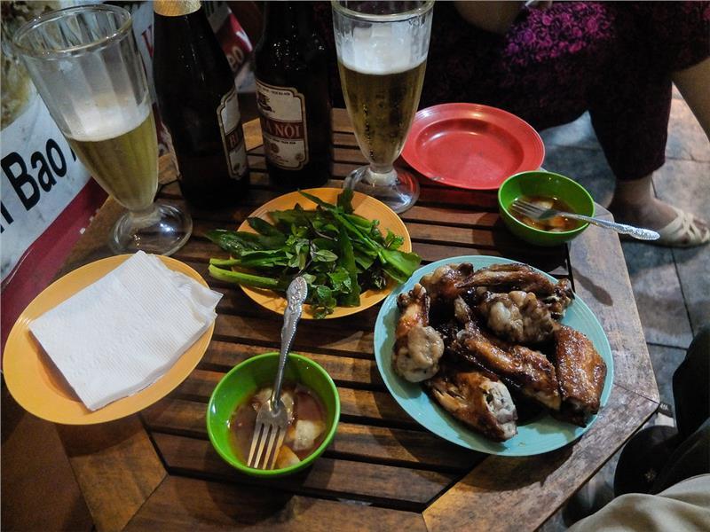 Delicious street food in Vietnam