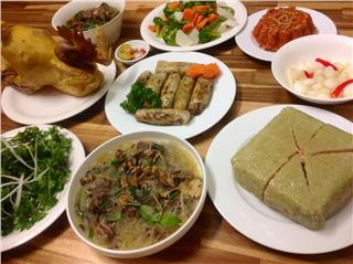 Traditional Vietnamese Tet food