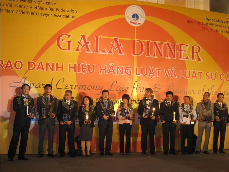 Award Ceremony for the best law companies in Vietnam