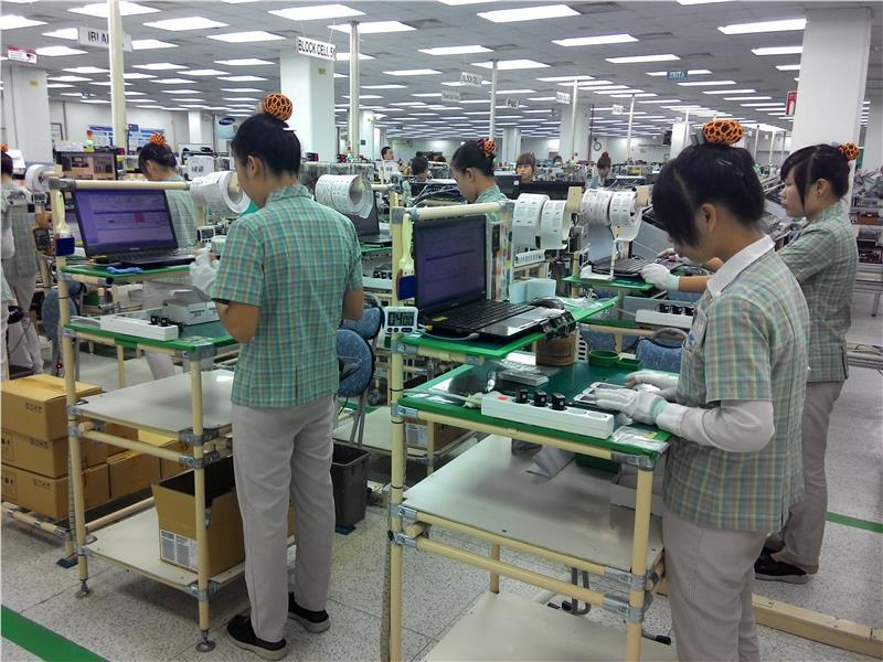 Inside a factory of Samsung in Vietnam
