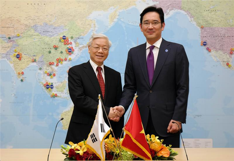 Nguyen Phu Trong General Secretary and Vice Chairman of Samsung Electronics