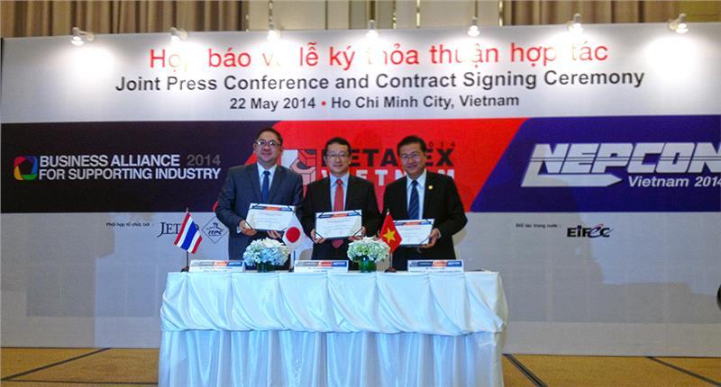 Signing ceremony in NEPCON Vietnam 2014