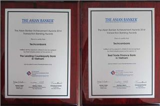 Techcombank Vietnam received 2 awards from Asian Banker