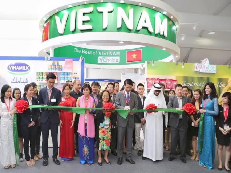 Vietnam booth in Gulfood Dubai Fair 2015