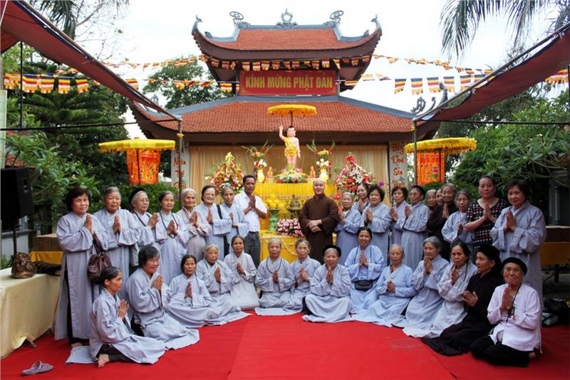Buddhists in Vesak Day
