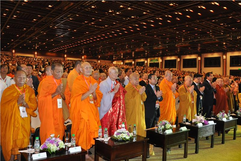 Deligates in Opening Ceremony of Vesak Day 2014