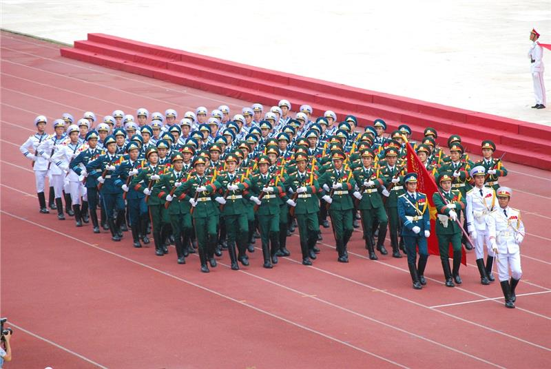 Marching on Vietnam National Day