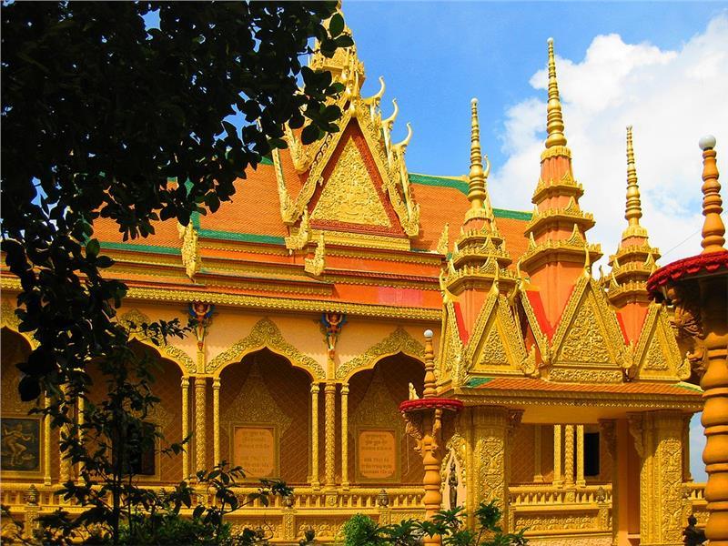 Vam Rai pagod of Khmer in Tra Vinh