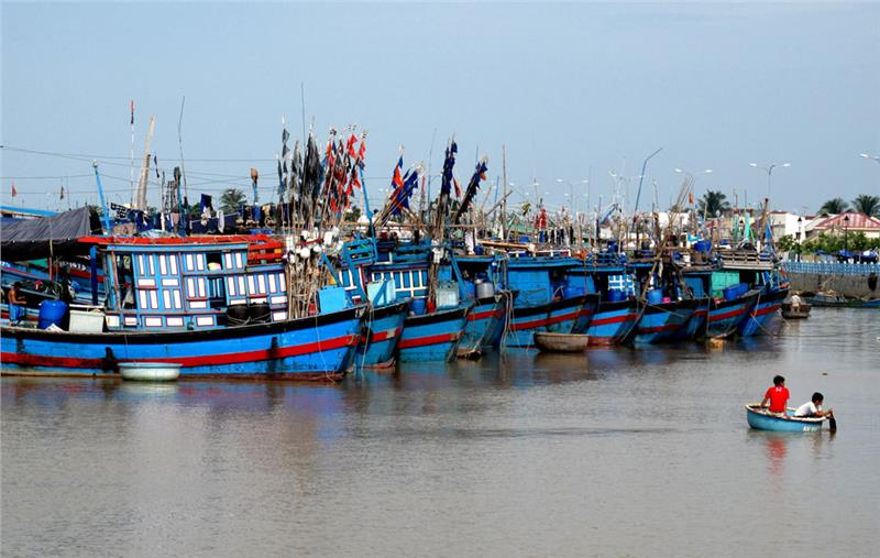 Fishing boats in Central Vietnam
