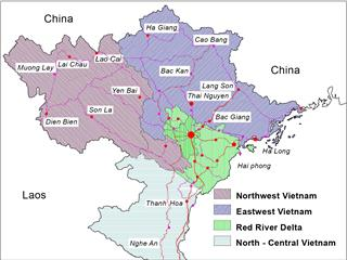 Northern midland and mountain Vietnam geography overview