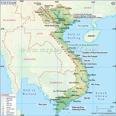 Natural regions in Vietnam overview