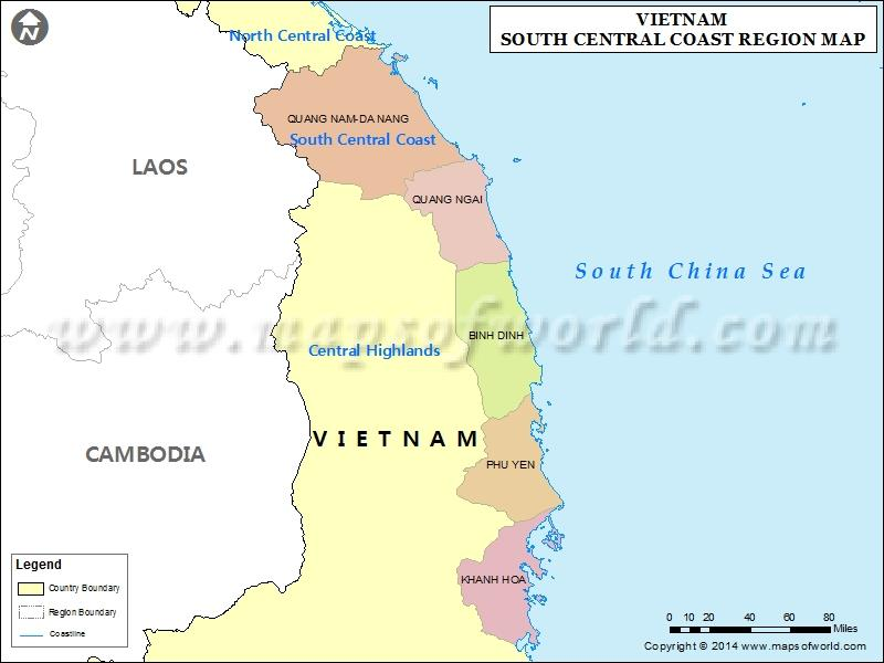 South Central Coast Vietnam geography overview