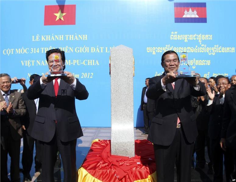 Vietnam - Cambodia border ground breaking ceremony