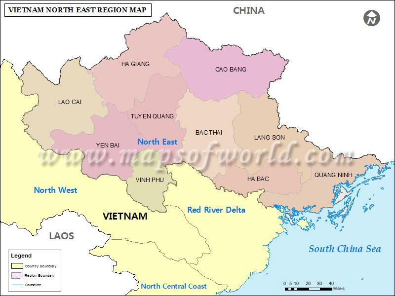 Northeast Vietnam geography overview