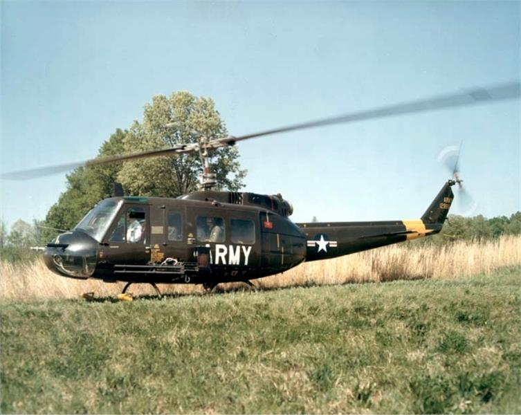 A helicopter of US troops in Vietnam War
