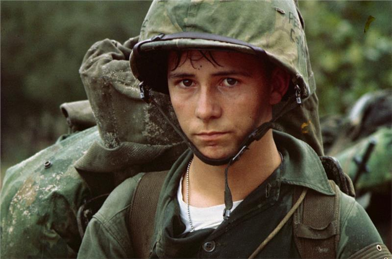 A young US Marine private