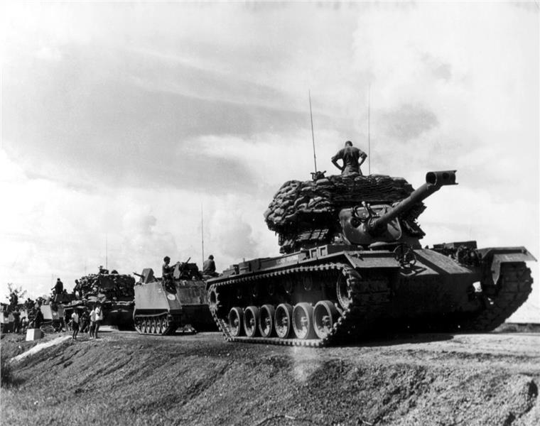 US tanks in Vietnam War