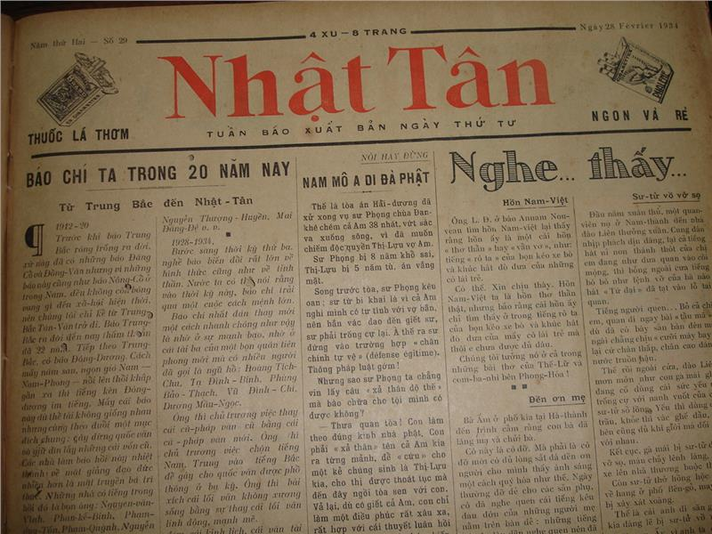 An old newspaper in Vietnamese language