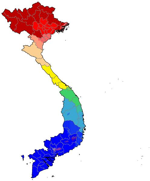 Contribution of Vietnamese dialects