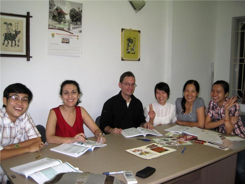 Foreingers in a Vietnamese course