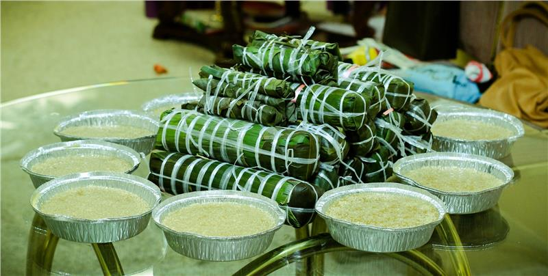 Tet Cake - traditional Rice Cake for Tet in Vietnam
