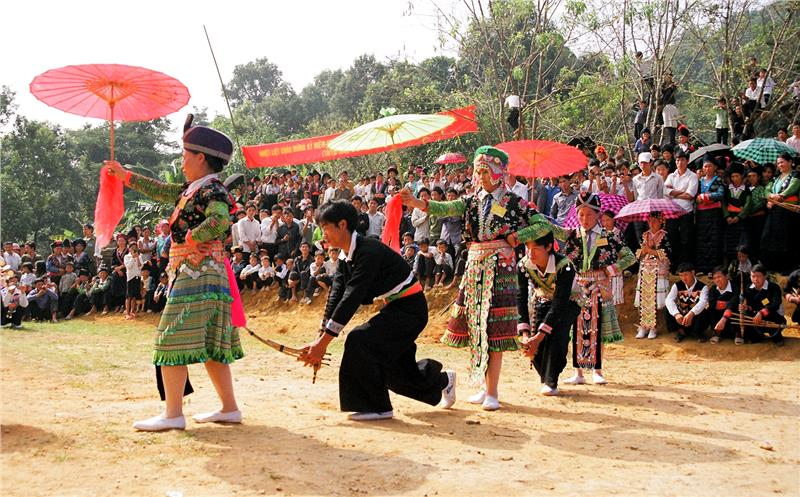 Hmong people in festival day