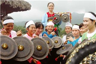 Sacred gong of Muong land in Hanoi